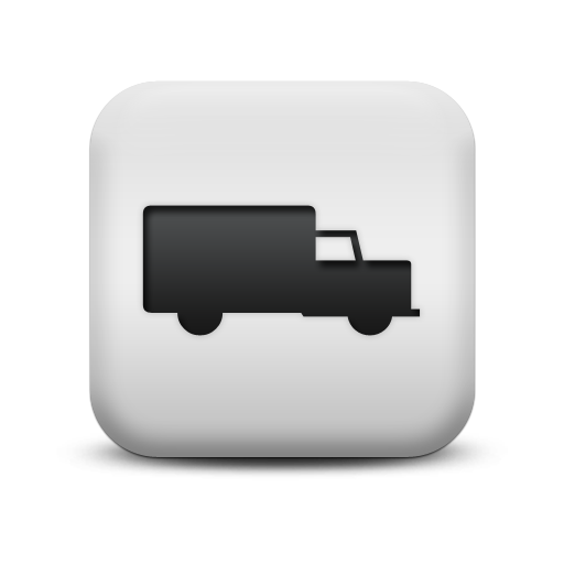 126164-matte-white-square-icon-transport-travel-z-truck25